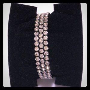 Lia Sophia rhinestone cuff bracelet